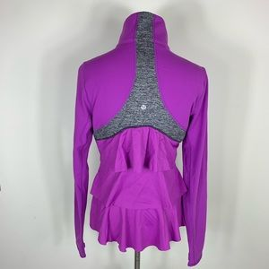 Lululemon jacket zip-up purple sz 8